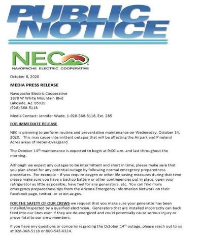 Notice from NEC