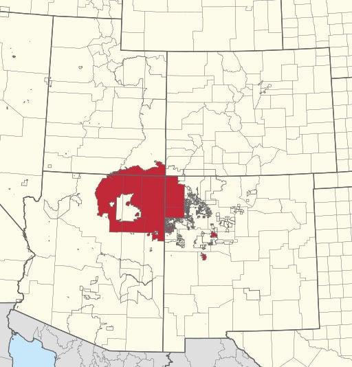 Navajo relief- map