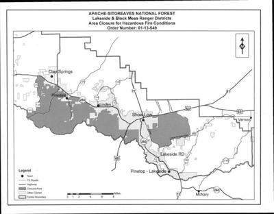 Apache-Sitgreaves issues temporary closure of more forested ...