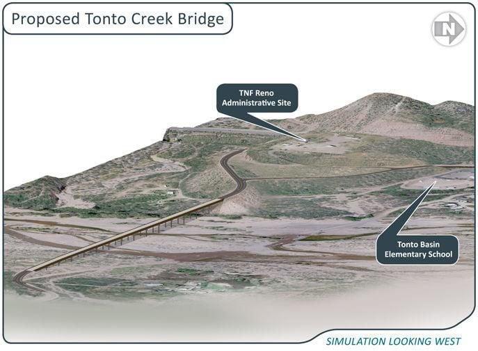 Plans for the Tonto Creek Bridge Gila County