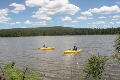 Kayaking on Scott Reservoir