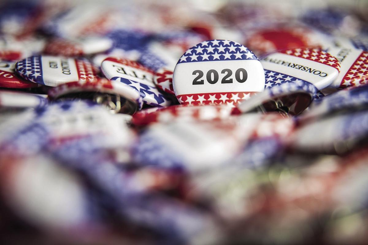 Navajo County wins grant for election security - 2020 election buttons