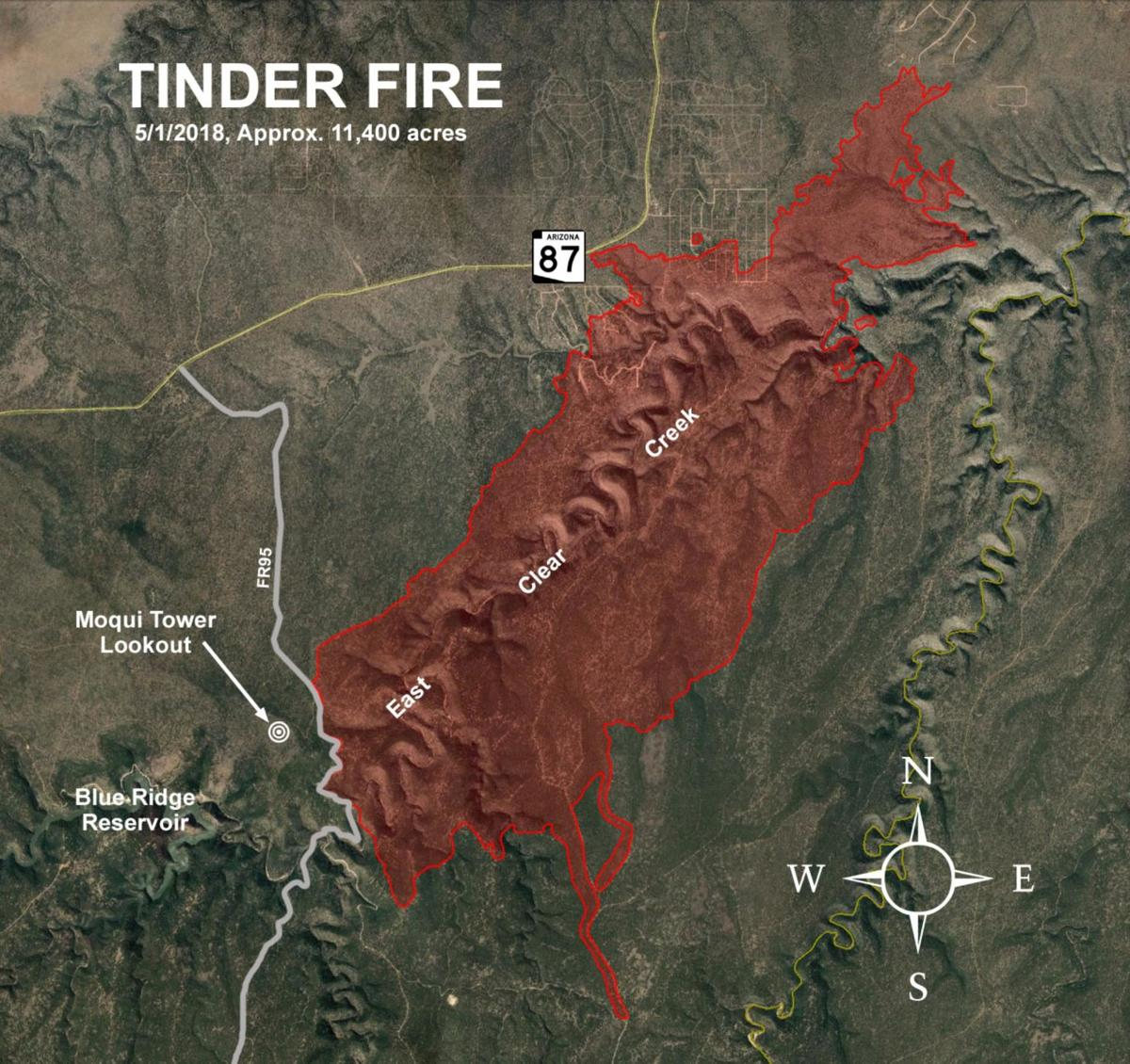 Tinder Fire map update | | wmicentral.com