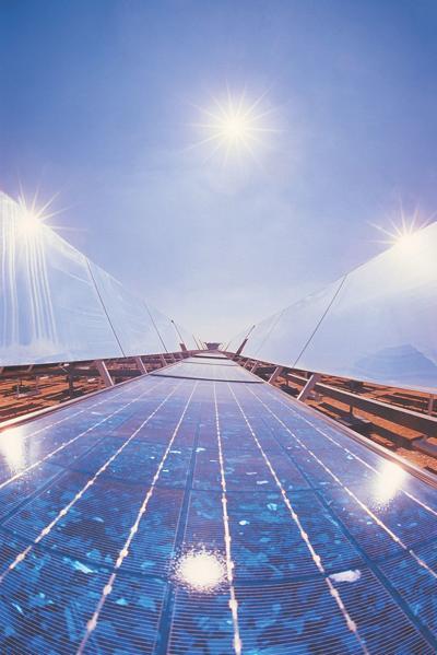 Solar power generating example