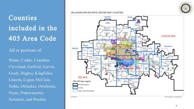 405 area code map