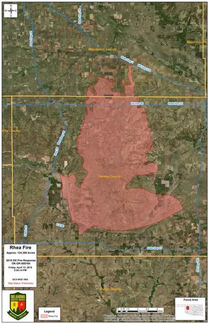 Rhea Fire Map.Dewey County Fire Woodwardnews Net