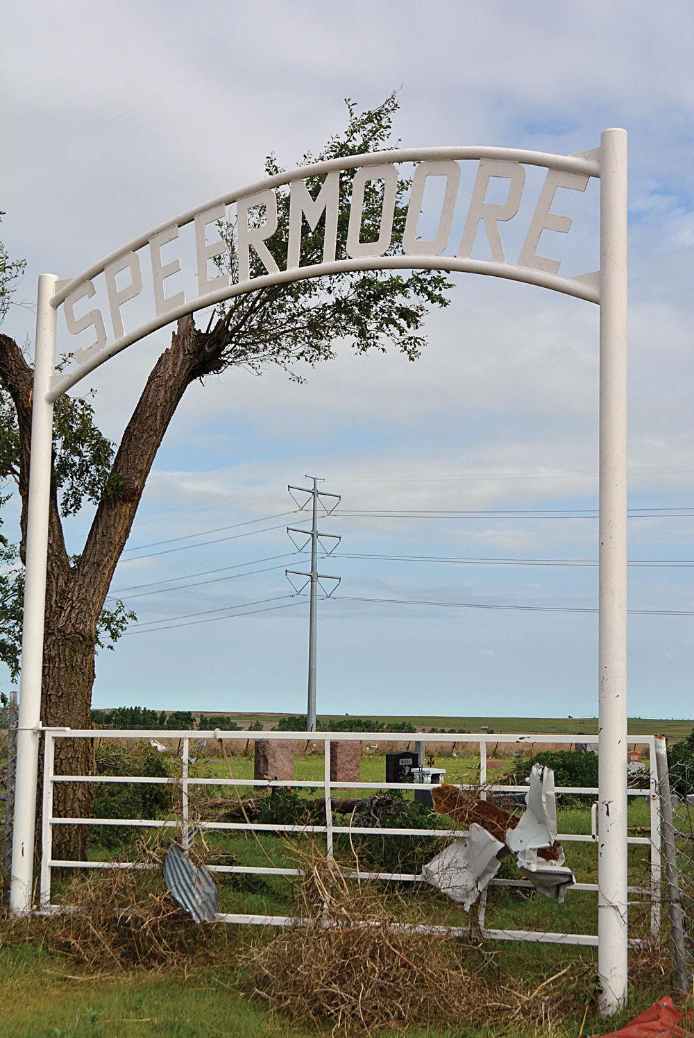 Damage cemetery