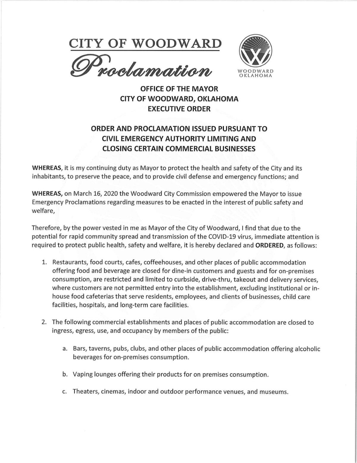 Mayor Declares Proclamation That