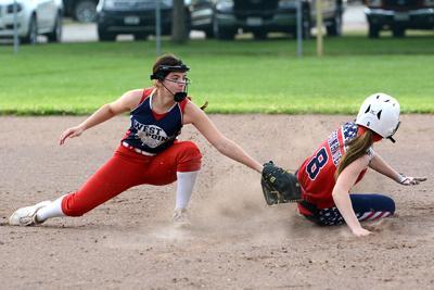 A close play at 2nd base