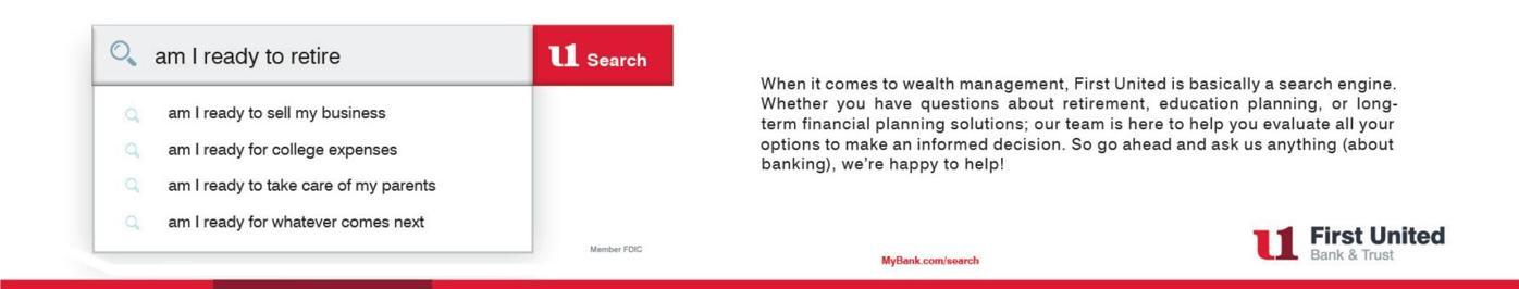 FIRST UNITED BANK & TRUST/MARKET