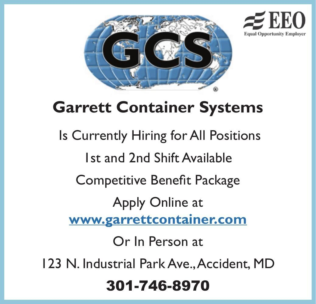 GARRETT CONTAINER SYSTEMS, INC.