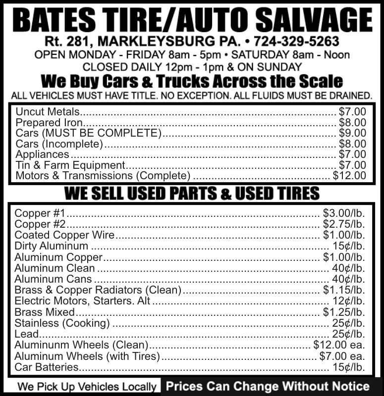 BATES TIRE & AUTO SALVAGE (YBB)