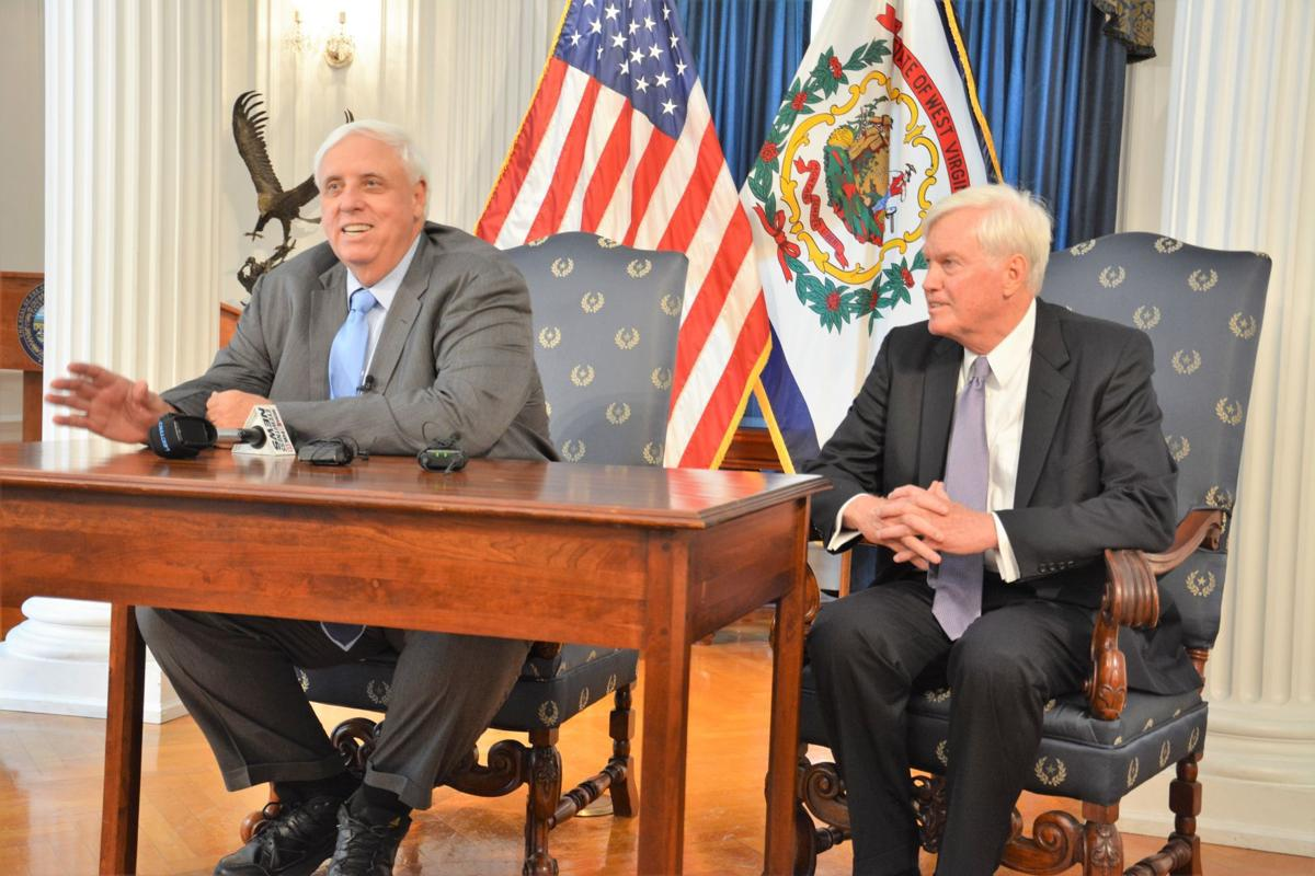 Gov. Jim Justice and Mike Hall