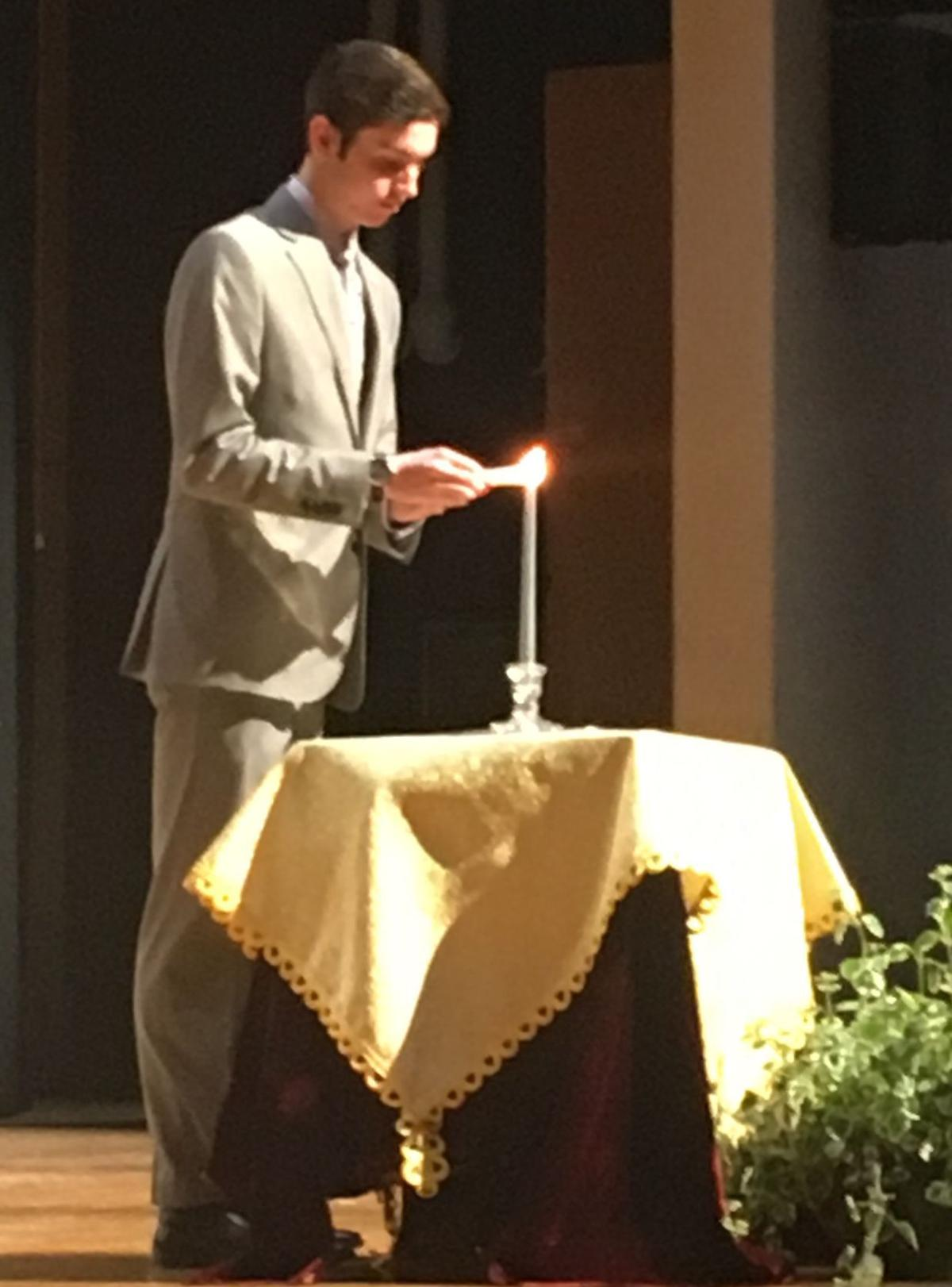 Alex Kuskey at National Honor Society