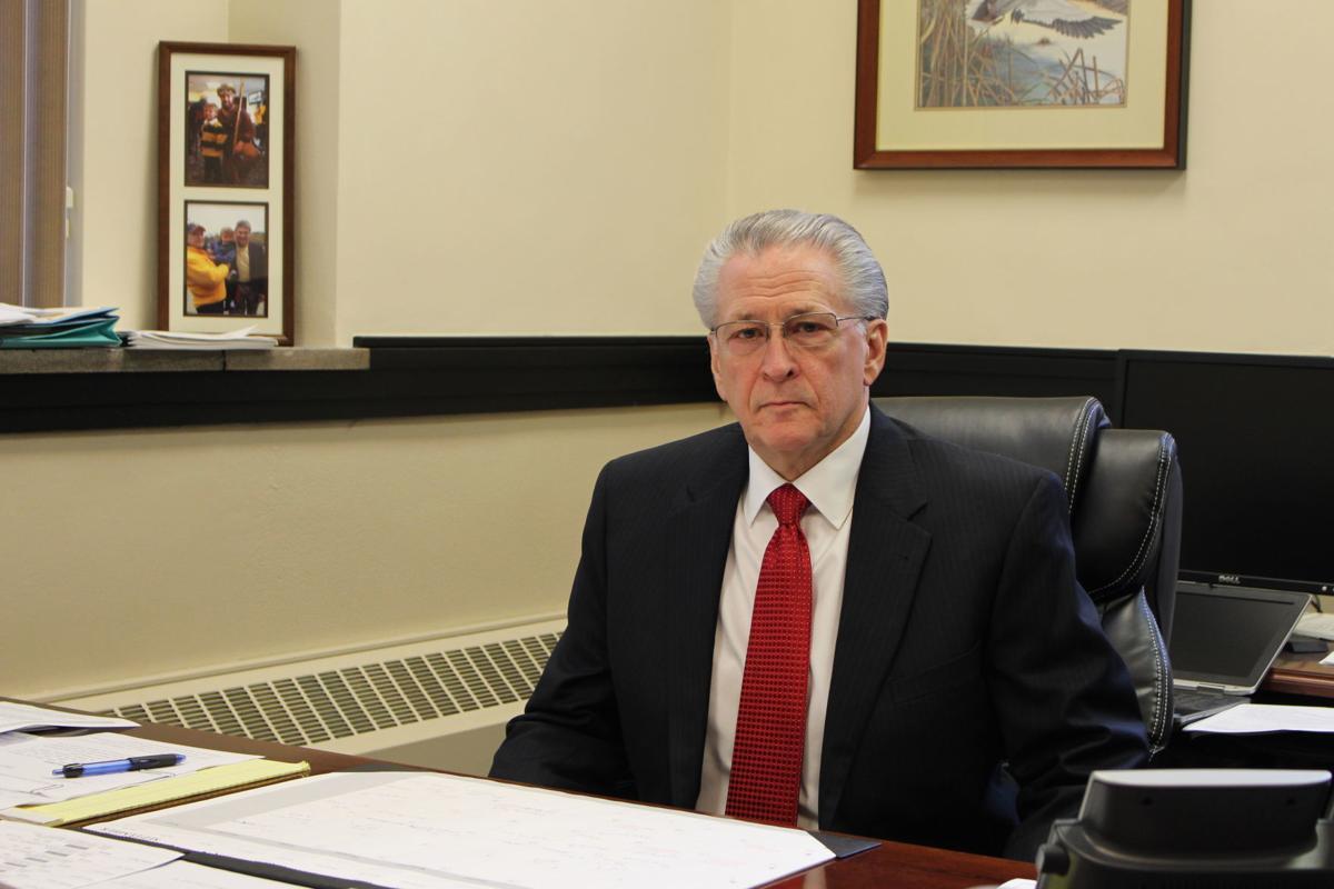 Judge James Matish at desk