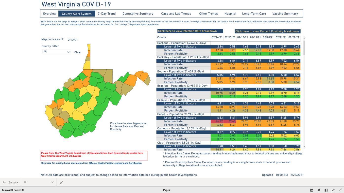 County Alert Map 02-23