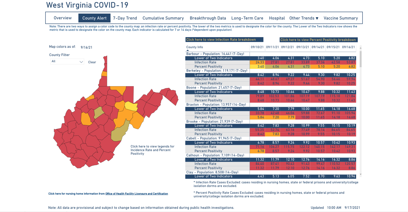 County Alert Map 09-17