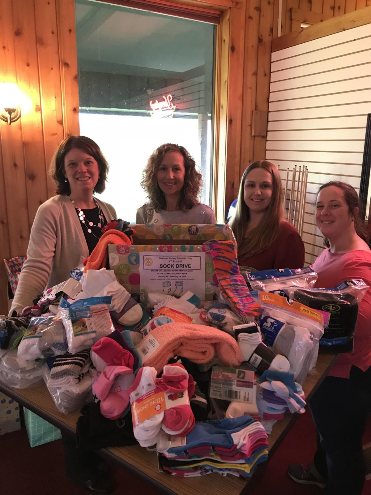 4th annual Rotary Satellite Sock Drive completed