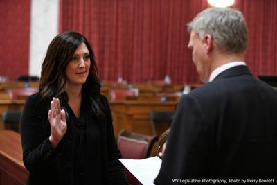 Chanda Adkins is sworn in