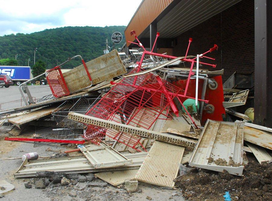 Flood damage in Richwood, W.Va.