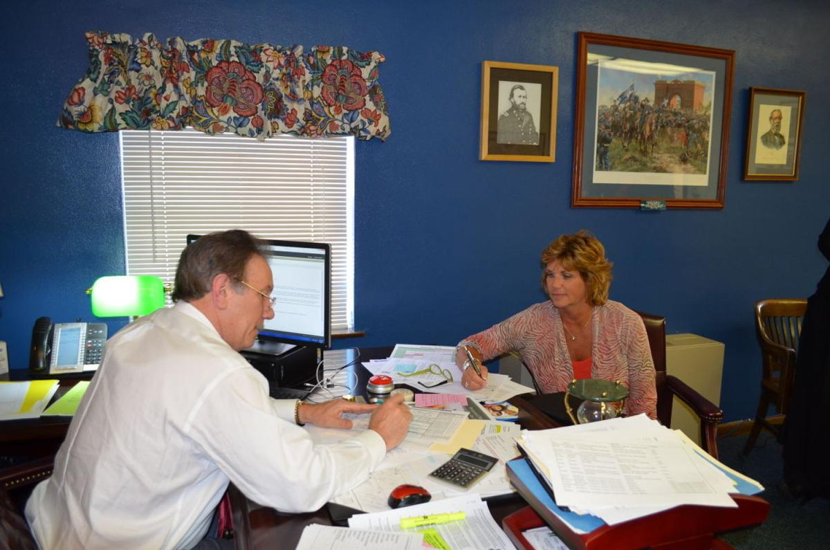 Discussing supplemental pay schedule. Harrison County Schools  Superintendent ...