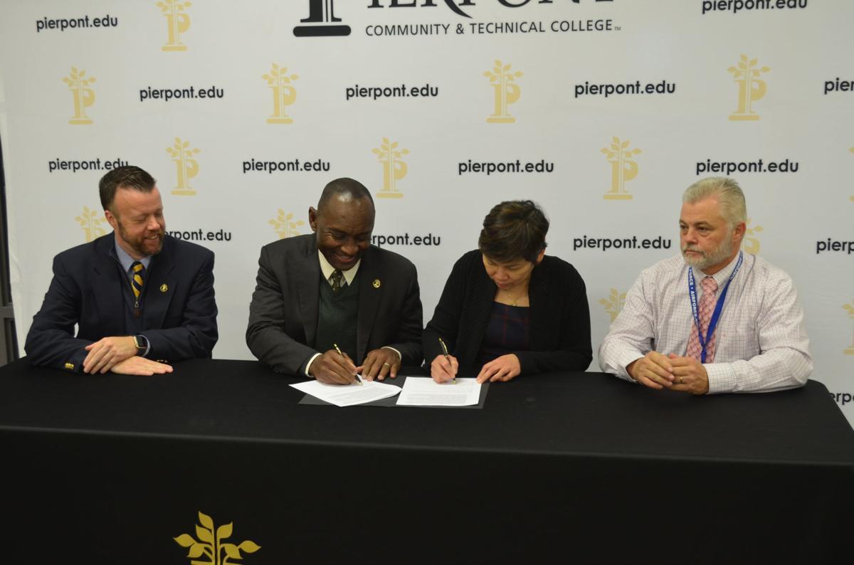 Pierpont, WVU partnership signing