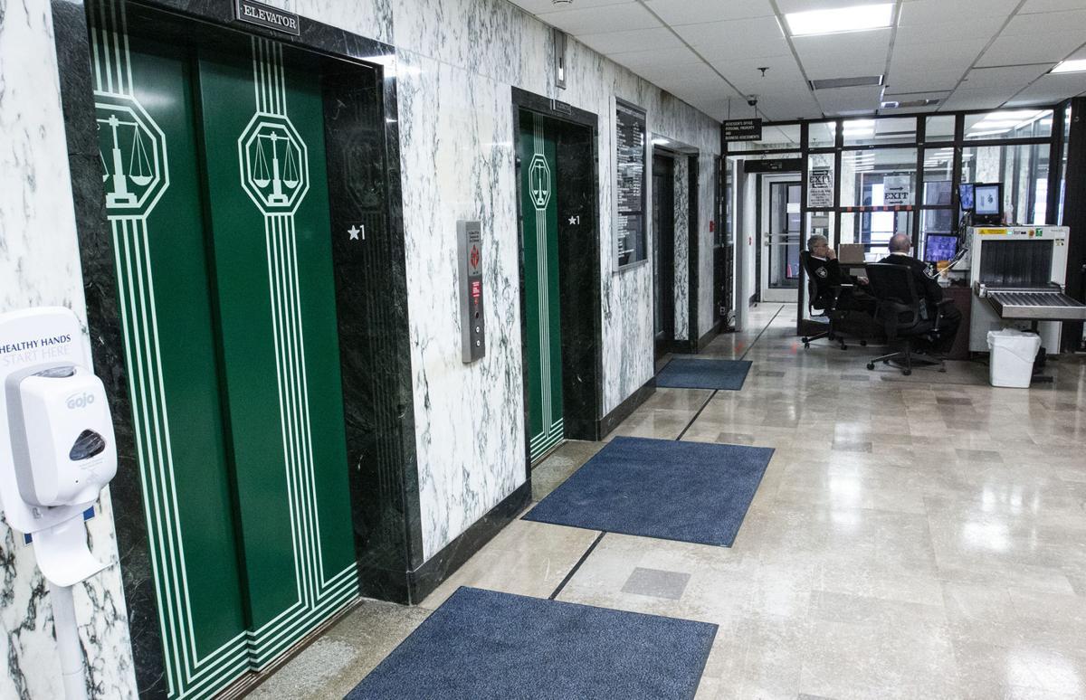 Harrison County Courthouse elevators