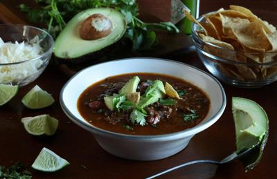 Short rib and flank steak soup