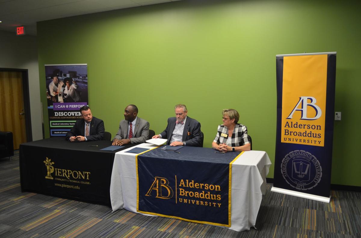 Pierpont and Alderson Broaddus officials