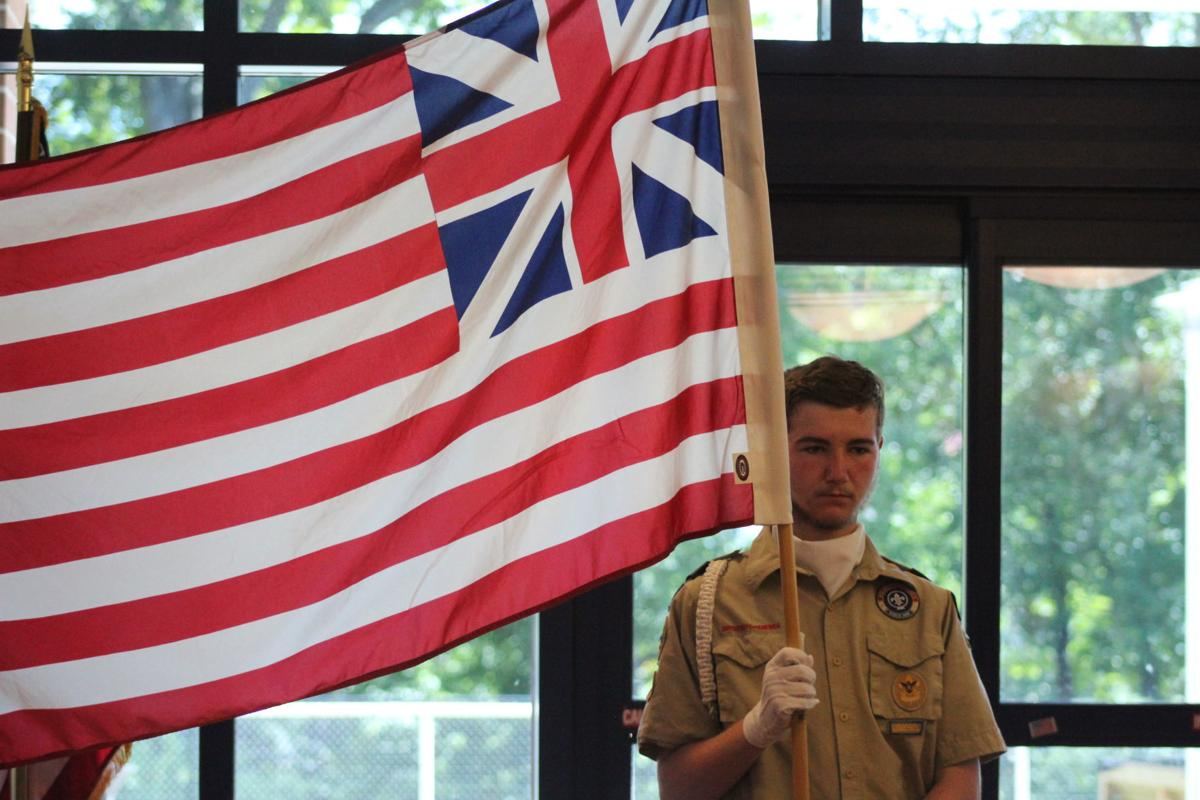 Scouts help with Flag Day