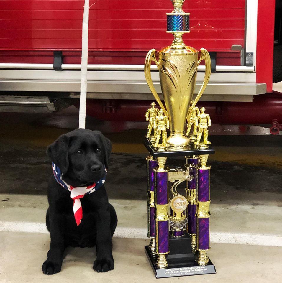 Elvira with trophy