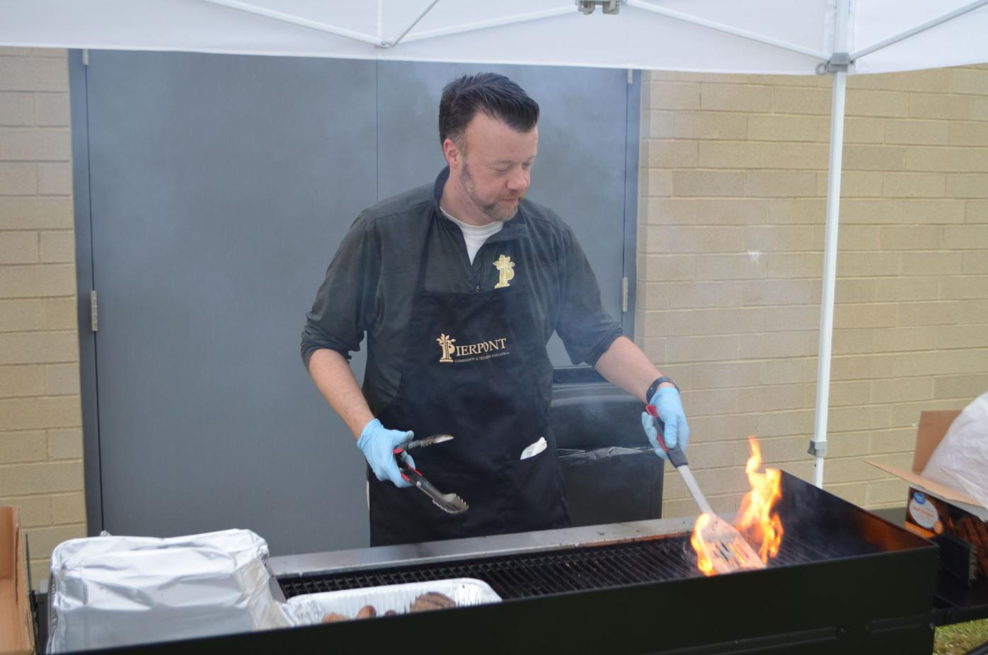 Waide at the grill