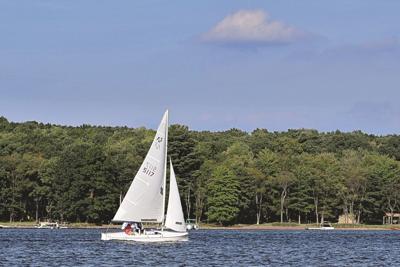 Deep Creek Lake sailboat