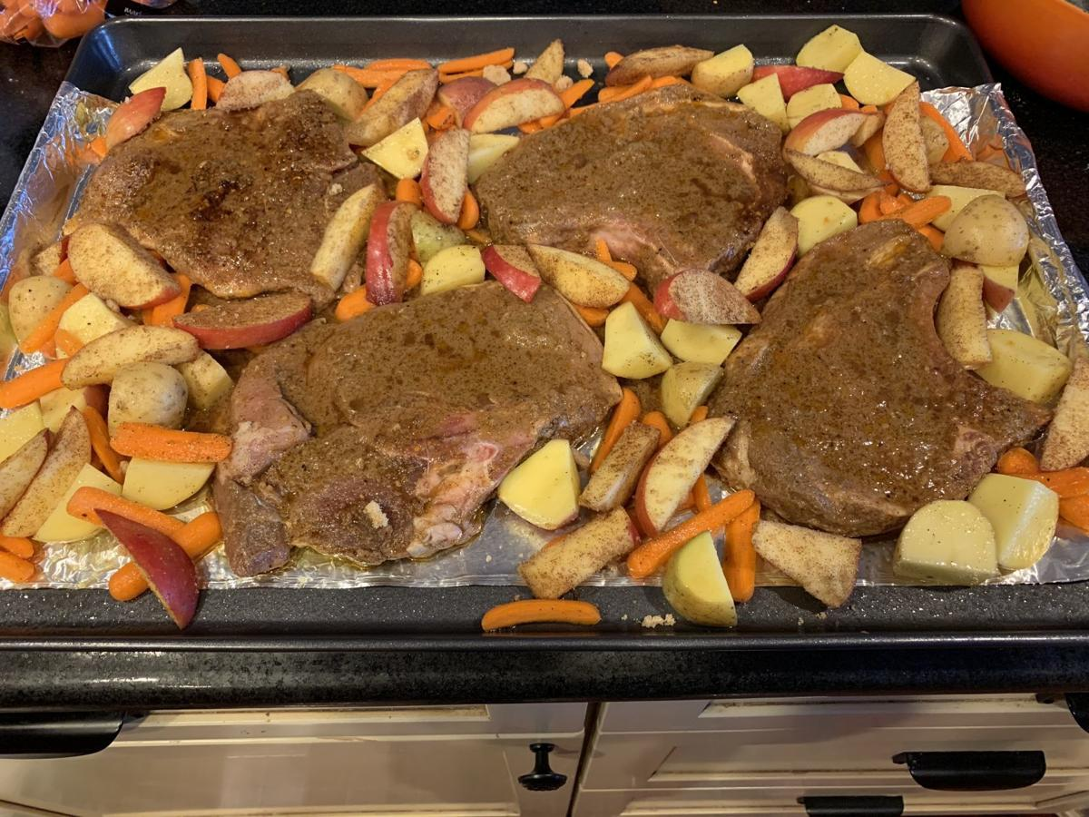 Zesty Pork Chops and Vegetables