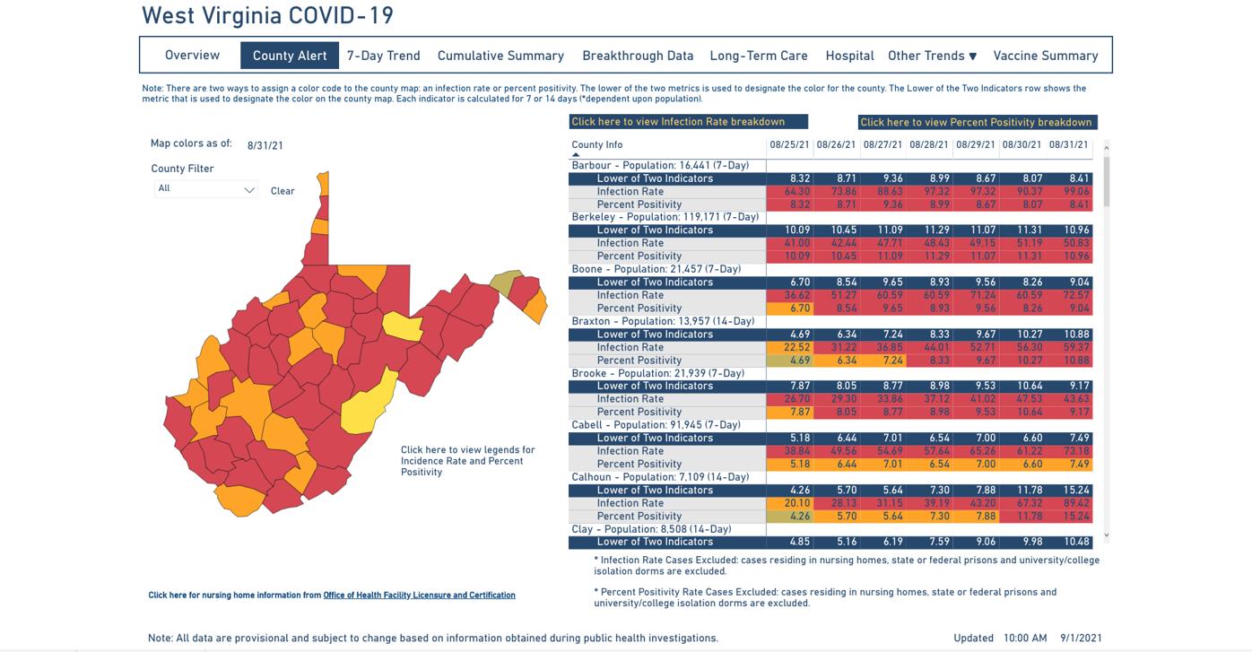 County Alert Map 09-01
