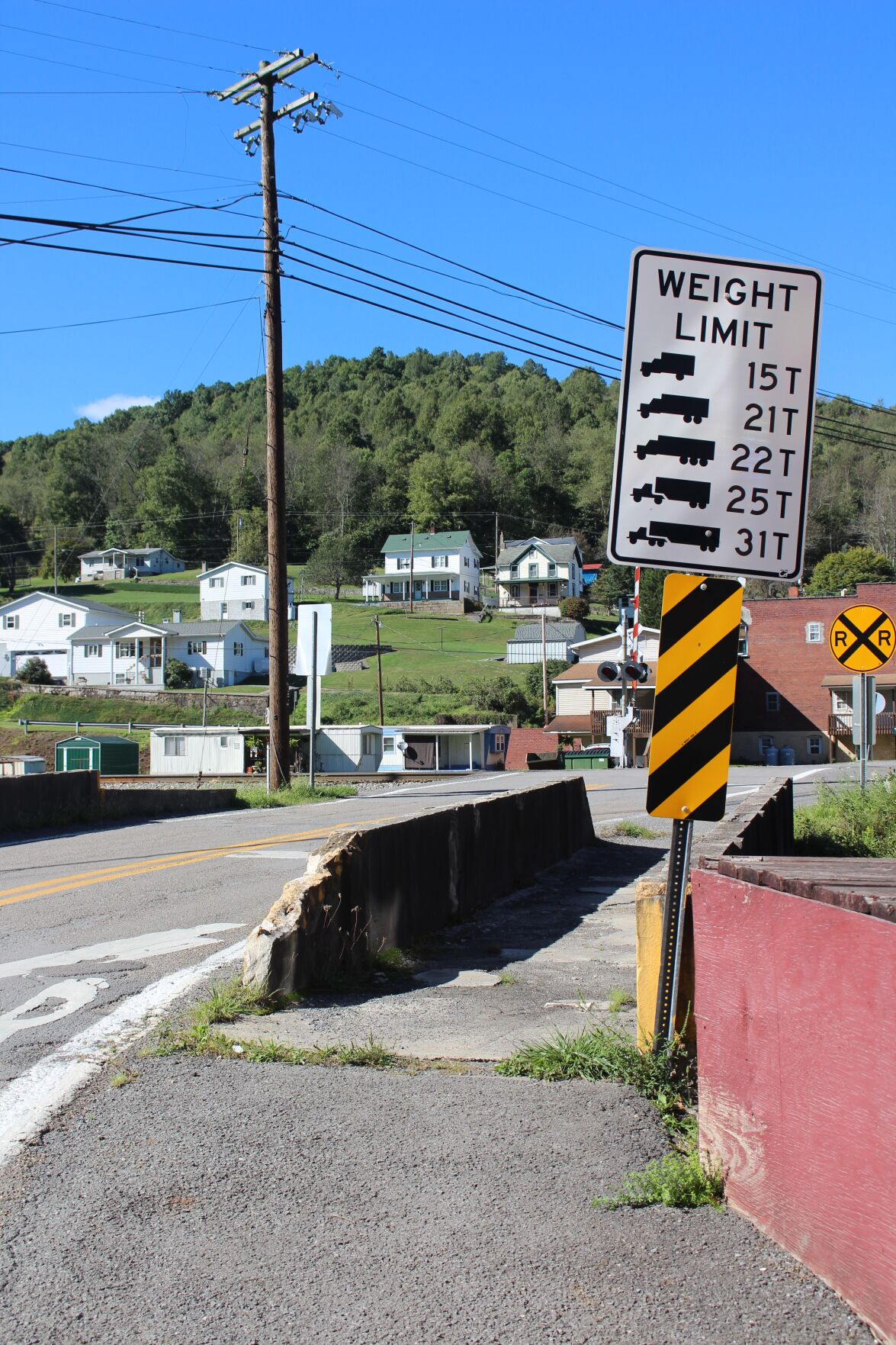 Newburg bridge weight