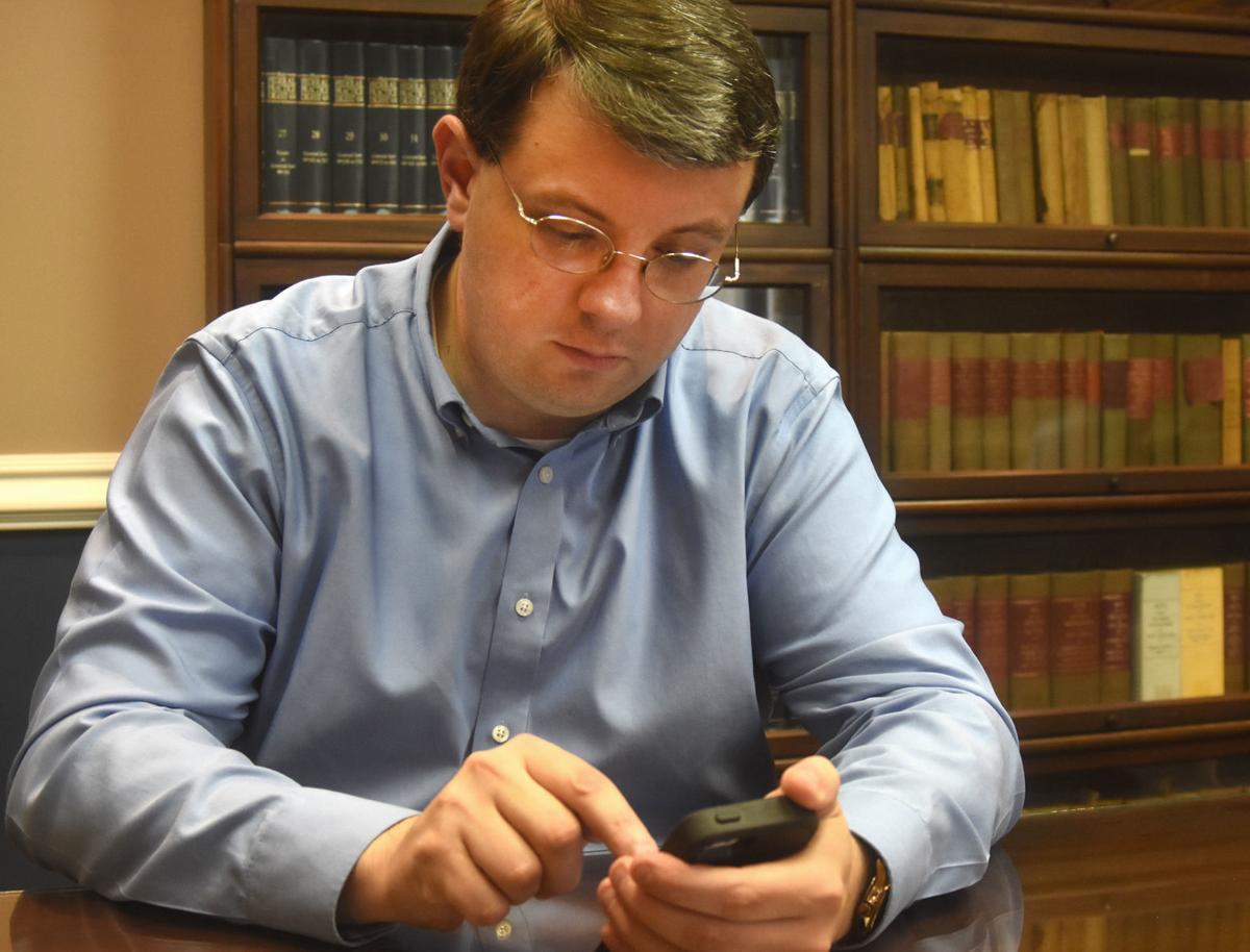 House Speaker Roger Hanshaw at work