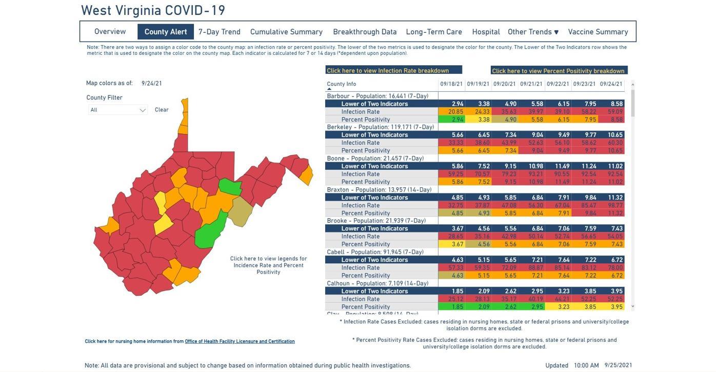 County Alert Map 09-25