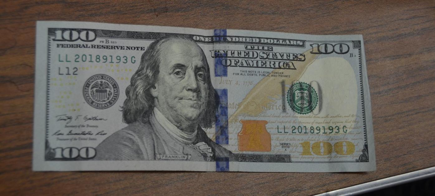 Authentic $100 bill