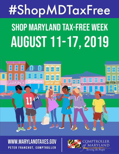 when is tax free week in md