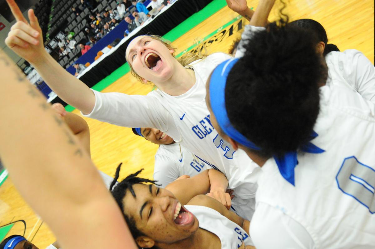 Lady Pioneer Lucille Westfall celebrates a 3-Peat for the GSC Pioneers in the MEC.JPG