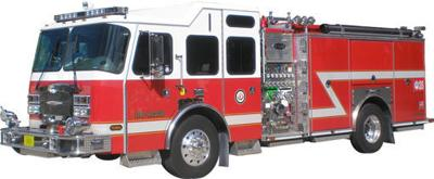 Fire truck graphic