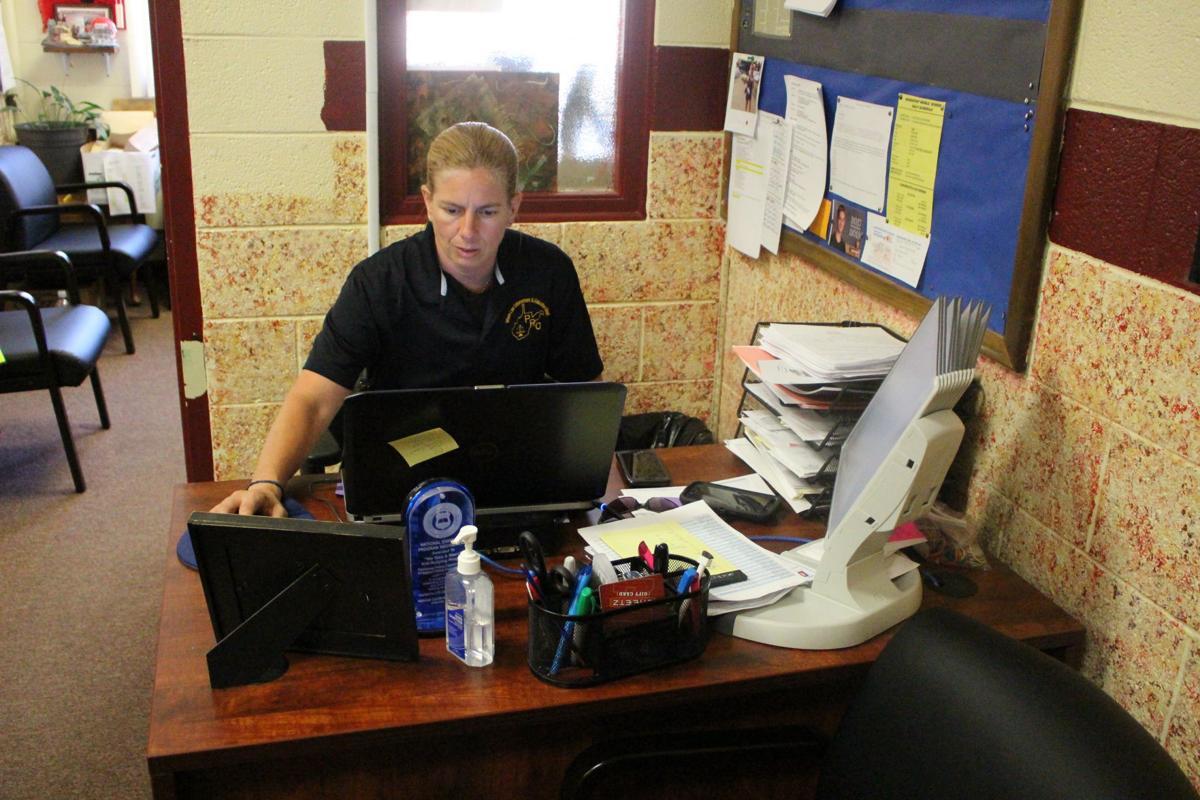 Jamie at desk
