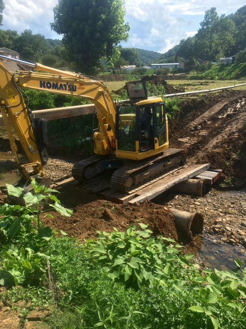 Jorkan Creek Temp Swere bypass benchmark construction