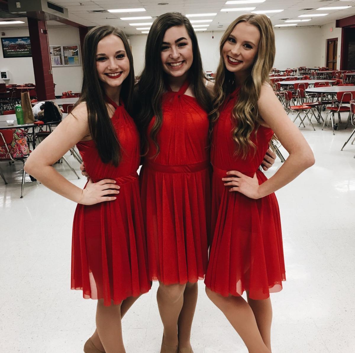 MacKenzie Kress and danceline captains