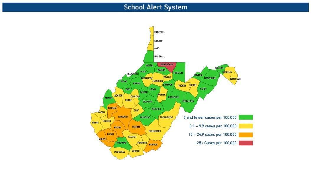 September 12, 2019 school COVID map