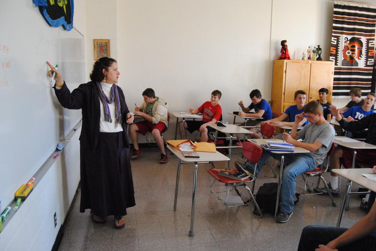 Students at BHS enjoy learning Spanish from Jenny Santilli