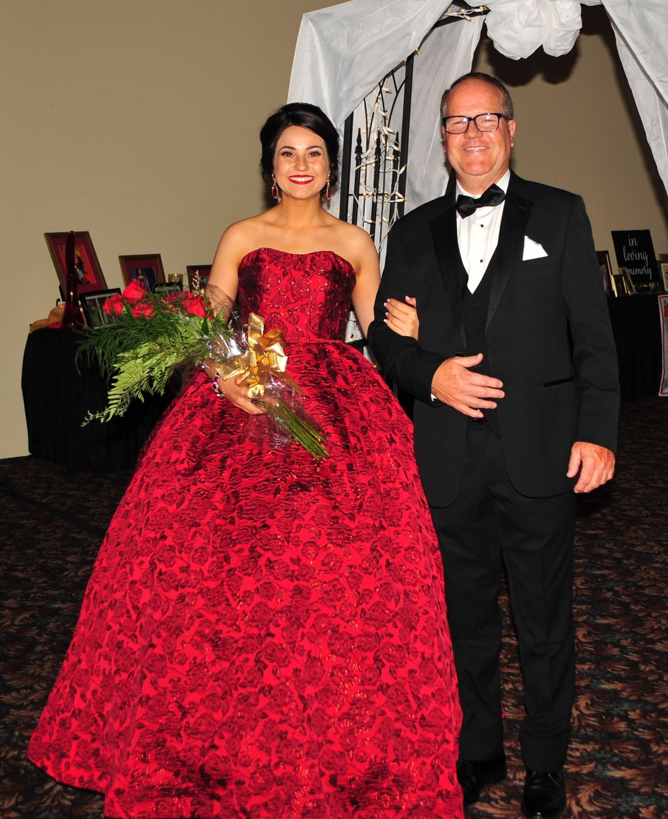 Regina Maria XLIII Marissa Maria Bailey and her father