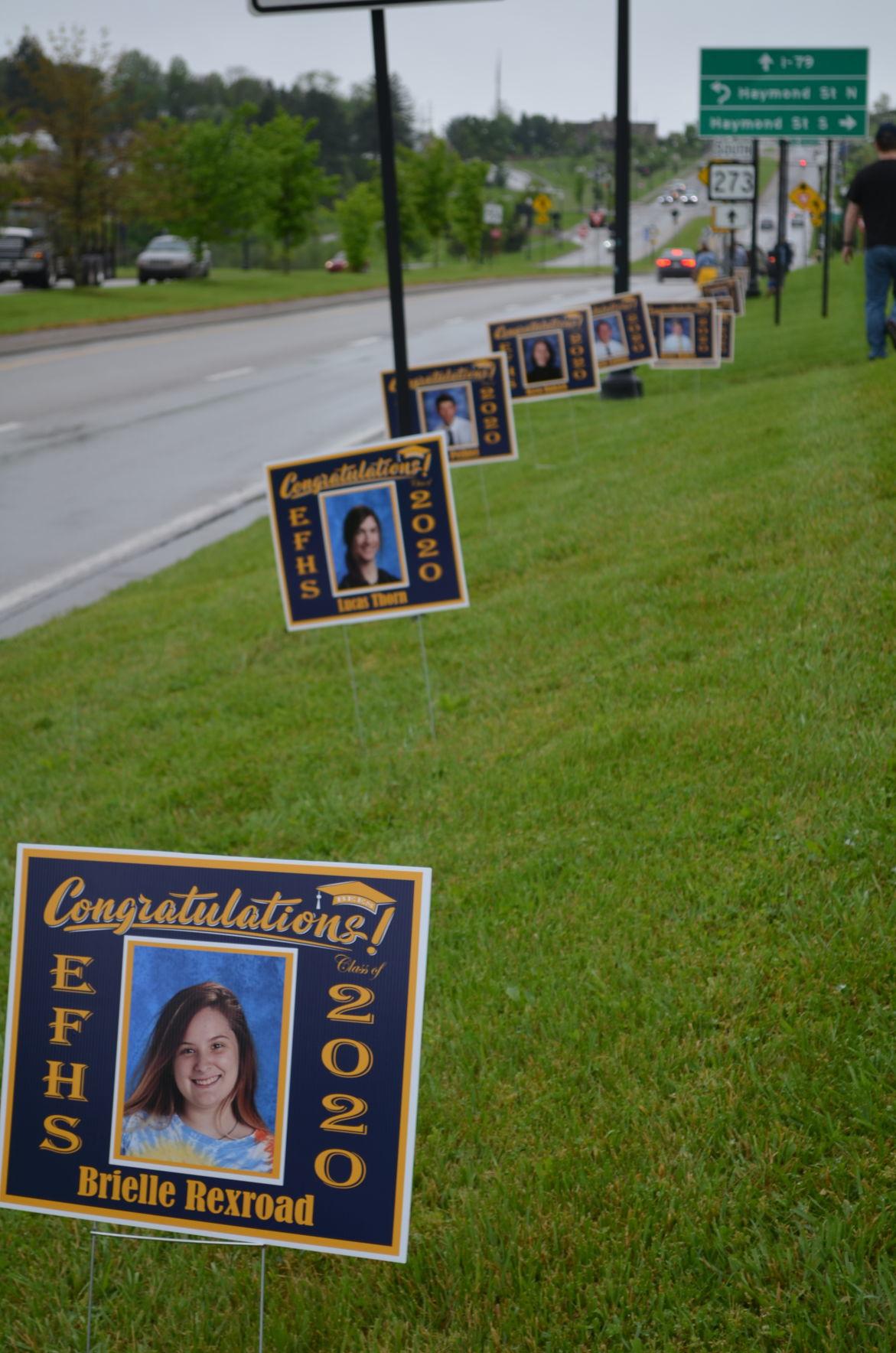 EFHS 2020 graduate signs