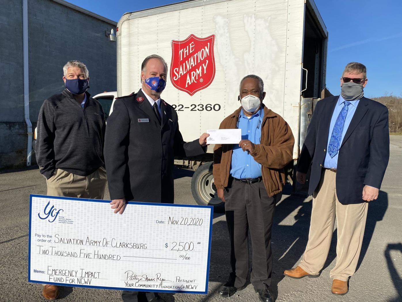 YCF Salvation Army of Clarksburg donation